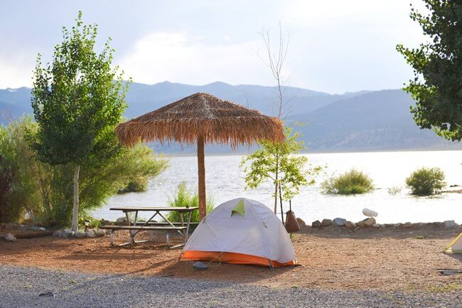 Lakeshore Tent Camping Site
