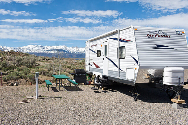 RV Site - an RV up to 22 Feet in Length